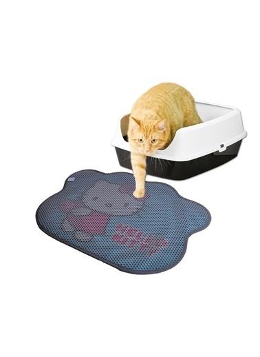 Hello Kitty HELLO KITTY ÇİFT KATMANLI KEDİ KUMU PASPASI PATİ 01 Gri